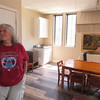 CATHY SPAULDING/Muskogee Phoenix<br /> First United Methodist Church Children's Minister Leigh Ann Matthews stands in a freshly remodeled children's classroom. Furniture dating back decades got a fresh coating.
