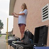 CATHY SPAULDING/Muskogee Phoenix<br /> Head Drum Major Audrey Gilliam leads the Royal Regiment band during a morning practice.