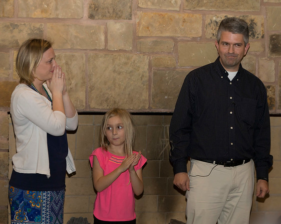 VON CASTOR/Special to the Phoenix<br /> Wife Jennifer and daughter Gemma react to Tahlequah Mayor Jason Nichols' news that he won the Democratic nomination for Oklahoma's 2nd Congressional District seat.