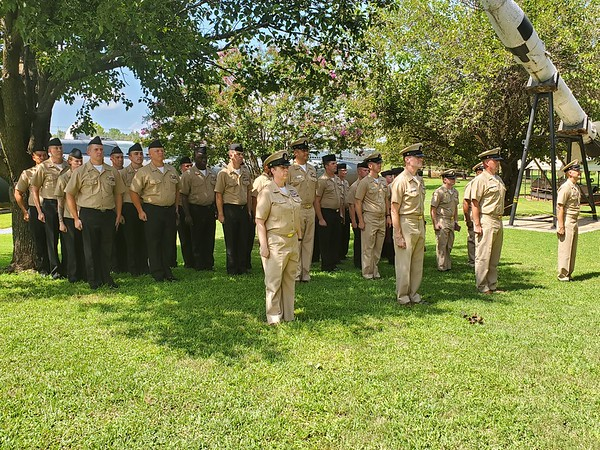 CHESLEY OXENDINE/Muskogee Phoenix<br /> The Chief Petty Officer Select Legacy Academy concluded Wednesday with a ceremony acknowledging 31 sailors moving up from E-6 rank to E-7.