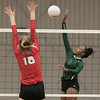 Phoenix special photo by Abiigail Washington<br /> Ja'layiah Collins hits over Union's Abby Bryan.