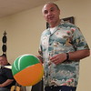 Muskogee Ministerial Alliance President Rich Schaus uses a multi-colored beach ball to stress the value of diverse ministers working together. Schaus spoke Wednesday at the Alliance's kickoff luncheon.