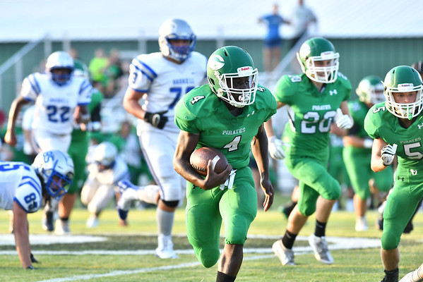 JIM WEBER/Special to the Phoenix<br /> Gore's James Dover breaks free for a first quarter 60-yard run against Haskell on Thursday.