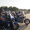 CATHY SPAULDING/Muskogee Phoenix<br /> Members of Patriot Guard Riders wait to carry the coffin for Seaman First Class Eugene Wicker at Clifford D. Garrett Family Funeral Home on Friday.