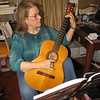 CATHY SPAULDING/Muskogee Phoenix<br /> Pam Lipscomb said classical guitar actually helps ease arthritis stress in her fingers.