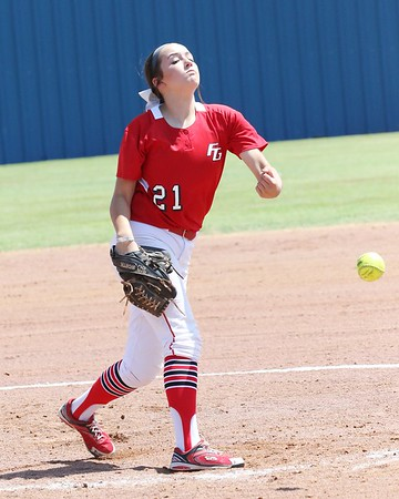 Phoenix special photo by John Hasler<br /> Fort Gibson's Courtney Hill, last year's All-Phoenix Newcomer of the Year, will be in the circle this year as the Lady Tigers try for a sixth straight state tournament appearance.