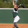 Phoenix special photo by Von Castor<br /> Muskogee's Meadow Million throws a pitch during the Lady Roughers' game against Bixby Tuesday afternoon at Roughers Park.