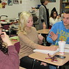 Staff photo by Cathy Spaulding<br /> Fort Gibson Advanced Placement world history students, from left, Gabriela Juarez, Reagan Edwards and Jesse Dunlap discuss which European crops had the biggest impact in the New World. Fort Gibson now offers six AP courses.
