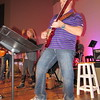 """Staff photo by Cathy Spaulding<br /> Roy Roberson uses a Helix multi-effects guitar processor while playing guitar for the upcoming """"O Holy Night"""" at Boulevard Christian Church."""