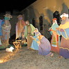 Staff photo by Cathy Spaulding<br /> A Nativity scene at The Presbyterian Church of Muskogee shows the three wise men visiting Mary and Joseph at the manger. The church will mark the visit with a 12th Night observance Thursday.