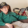 Staff photo by Mark Hughes<br /> Lloyd Winkle, 93, talks about delivering fuel and ammunition to aircraft in Algiers and Italy during World War II. He volunteered to be in the Army Air Corps at the age of 18.