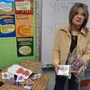 Staff photo by Mark Hughes<br /> Jean Gawf, who created Heartz from Home, displays a box full of Valentine's Day cards and candy destined to troops overseas. Tony Goetz Elementary School is participating in the project by making Valentine cards, collecting candy and decorating the boxes. Gawf has a son in the Marine Corps.