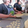 Staff photo by Cathy Spaulding<br /> Vickie Berner takes pride in the pie crust she prepared at her restaurant, Mattie Jane's on Main.