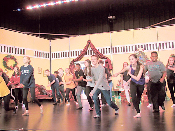 """CATHY SPAULDING/Muskogee Phoenix<br /> Party guests get into a jazzy Christmas party during an opening scene of Sadler Arts Academy's """"Nutcracker."""""""