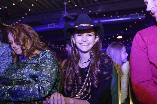 Special photo by Mandy Lynn Lundy<br /> Teen singer Kenadi Dodds grins after opening for the Swon Brothers concert Friday at Oklahoma Music Hall of Fame.