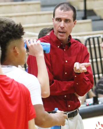 Phoenix special photo by John Hasler<br /> Todd Dickerson was named interim boys basketball coach at Fort Gibson on Nov. 27. On Friday, the interim tag was removed as former coach Gary Hendrix announced his retirement.