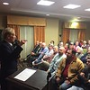 Staff photo by D.E. Smoot<br /> Mike Patterson, executive director of the Oklahoma Department of Transportation, addresses concerns of those who attended a listening session to get answers about plans to reroute U.S. 69 and bypass Muskogee's business district.