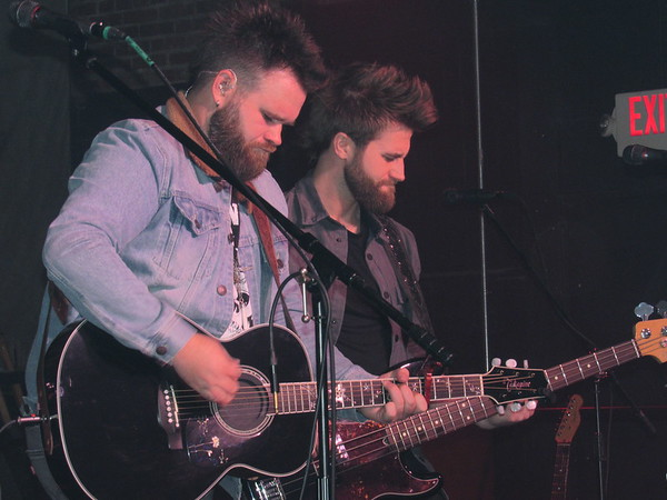 CATHY SPAULDING/Muskogee Phoenix<br /> Zach Swon, left, and Colton Swon remain close after eight years of performing their annual Christmas concert benefiting the Salvation Army. They performed Friday at Oklahoma Music Hall of Fame.