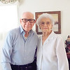 KENTON BROOKS/Muskogee Phoenix<br /> Ira and Mabel Boss pose for a photo in their home of 77 years on Haskell Boulevard. Ira celebrates his 100th birthday today.