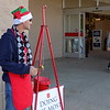 Staff photo by Mike Elswick<br /> Rodney Jacobs said this is his first year to serve as a bell ringer for the Salvation Army's Red Kettle drive.