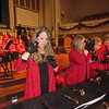 "Staff photo by Cathy Spaulding<br /> Joy Nelson rings hand bells with the Joyful Ringers during a dress rehearsal for ""A First Muskogee Christmas,"" which will be performed Sunday at First Baptist Church."
