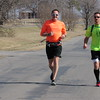 Staff photos by Cathy Spaulding<br /> Dale Wiggins, left, and Ryan Hoover plan to run 100 miles to raise money for Speed the Light mission support program.