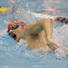 Phoenix special photo by Von Castor<br /> Fort Gibson's Zach Taylor competes in the 500-yard freestyle event Saturday evening at the Jenks Aquatic Center in the 5A State Championships.