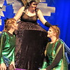 "Staff photo by Cathy Spaulding<br /> Ursula the sea witch, (Sara Smythe, center) hears a report from her eelish minions Flotsam (Jasmine Speer, left) and Jetsam (Hannah Webster) in the Muskogee High School production of Disney's ""The Little Mermaid."""
