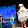 "Staff photo by Cathy Spaulding<br /> Ariel, the mermaid (Madison Eckerson, left,) and her Flounder friend (Marissa Smith, center) strike a deal with Scuttle, the seagull (Haley Wayerski) in the Muskogee Little Theatre production of Disney's ""The Little Mermaid."""