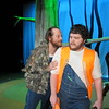 "Staff photo by Cathy Spaulding<br /> Duck hunting brothers Duane (Jeremy Sheldon, left) and Duwell (Zach Alexander) scour southern swamps for something to shoot. They shoot something surprising in the Muskogee Little Theatre production of ""Duck Hunter Shoots Angel."""