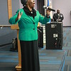 Phoenix special photo by Chesley Oxendine<br /> Ernestine Dillard sings passionately for the crowd during Saturday night's Freedom Fund Banquet.