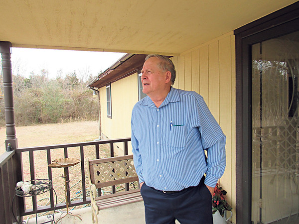 Staff photo by Cathy Spaulding<br /> Gerald Taylor recalls walking to first grade from his house north of Fort Gibson. He later returned to Fort Gibson and spent 27 years on the Board of Education.