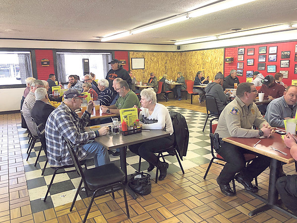 CHESLEY OXENDINE/Muskogee Phoenix<br /> Speedway Grille closed Dec. 11 after a woman fleeing police crashed her car through a corner of the restaurant. They reopened Wednesday to a large crowd of eager customers.