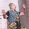 "CATHY SPAULDING/Muskogee Phoenix<br /> Psychic housekeeper Cassandra (Sarah Turner) makes a dire prediction in the Muskogee Little Theatre production of ""Vanya and Sonia and Masha and Spike."""