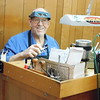 KENTON BROOKS/Muskogee Phoenix<br /> Randy McDuffee pauses in his work on jewelry at The Jeweler's Box in Checotah. McDuffee, 69, is retiring after 40 years in the jewelry business. He plans to go bass fishing.