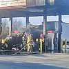 "Staff photo by Ronn Rowland<br /> A tractor-trailer rig caught fire in a diesel fueling bay at QuikTrip on Tuesday afternoon, said Assistant Fire Chief Gordon Lee. The truck, which was hauling a refrigeration unit, pulled underneath a west diesel bay with an awning. ""We're not sure what caused the cab to catch fire but it was completely engulfed in flames and completely burned up,"" Lee said. The metal awning above it was scorched.Initially a pumper truck was dispatched to the scene but another one was soon requested from another station, Lee said. Firefighters used foam to extinguish the fire because foam is a wetter substance and suffocates the fire. The store's manager turned off that row of pumps from inside the convenience store. The driver received a small burn on his arm but didn't request medical attention."