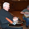 Photo by Liz McMahan<br /> Lee Roy Whisenhunt of Wagoner jams with Tommy Lawson of Wagoner and other folk musicians in Wagoner on Thursday nights. On Monday nights Whisenhunt plays with a western swing group in Broken Arrow. He also has recurring gigs in Tulsa.