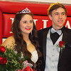 Special photo by Mike Elswick<br /> Hilldale High School 2017 Basketball Homecoming queen Morgan Gaddy poses with escort Jack Newman during a Tuesday afternoon ceremony in the school gym.