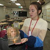 """CATHY SPAULDING/Muskogee Phoenix<br /> Fort Gibson Middle School teacher Hannah Newton bought a set of """"The Book Thief"""" novels through a Fort Gibson Education Foundation grant."""