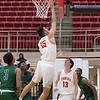 Phoenix special photo by Abigail Washington<br /> Fort Gibson's Seth Martin drives in for a layup against the Muskogee JV in a boys bracket first round game in the Old Fort Classic.