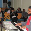 CATHY SPAULDING/Muskogee Phoenix<br /> Mike Ragsdale plays keyboard at a community choir practice. The choir will sing at a Dr. Martin Luther King Jr. Day praise and worship service on Monday.