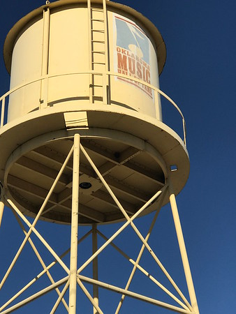 ANDREA CHANCELLOR/Special to the Phoenix An historic water tower at Oklahoma Music Hall of Fame adds authentic history to an old rail depot.