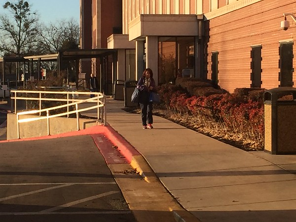 Staff photo by Mike Elswick<br /> The Jack C. Montgomery VA Medical Center was operating as normal Monday morning with patients showing up and workers being shuttled to the center from remote parking lots. VA officials said in a statement the agency had already received funding approval.