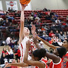 JOHN HASLER/Special to the Phoenix<br /> Lexie Foutch scores over the Tulsa Hale defense in Fort Gibson's 77-14 win Thursday in the Old Fort Classic.