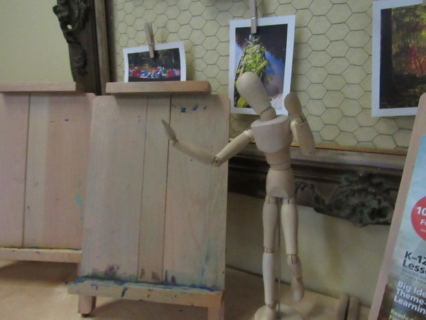 """CATHY SPAULDING/Muskogee Phoenix<br /> An Education Foundation of Muskogee grant in 2015 funded art mannequins, child-sized easels and other supplies for an """"Artist Atelier"""" at Muskogee's Early Childhood Center."""