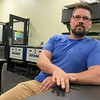 "CATHY SPAULDING/Muskogee Phoenix<br /> Muskogee High School's new Fab Lab manager Collin McCawley says the lab allows people to ""do cool stuff and accidentally learn something."""