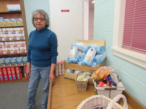 Joseph's Storehouse Director Mary Juarez says the food pantry welcomes donations of canned or dry foods.