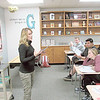 Fort Gibson High School teacher Sheri Godwin tells students in her English class how rhyme and rhythm matter in poetry. She features encouraging slogans on her wall.