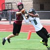 Phoenix special photo by John Hasler<br /> Wagoner's Dylan Mayfield knocks away an Edison pass in pool play.