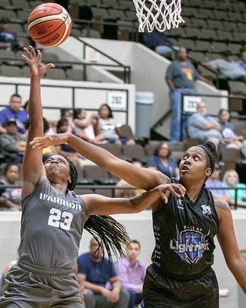 SHANE KEETER/Phoenix Special Photo<br /> Oklahoma's Cierra Miles draws the foul from Dallas' Talisha Boyd in Friday's game at the Civic Center.